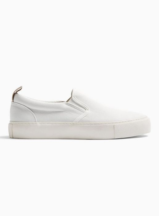 White Canvas Stargaze Slip on Trainers - Only £25!