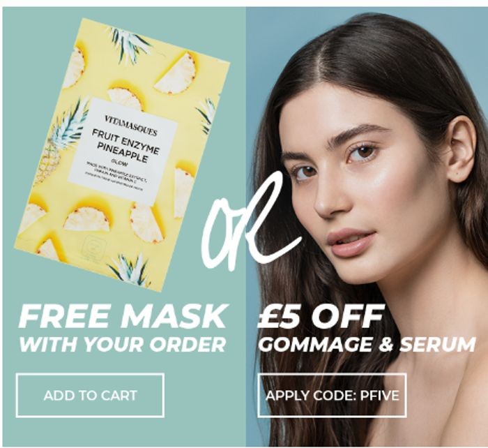 £5 off Gommage & Serums or Free Mask