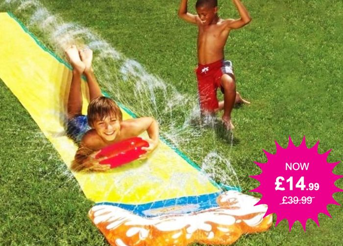 16ft 2-in-1 Water Slide with Vertical Sprinkler - Loads of Fun in the Sun!