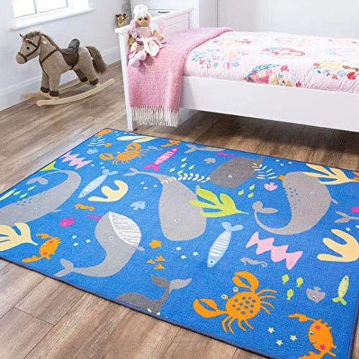 Sealife Childrens Floor Play Area Rug Mat 100cm X 140cm