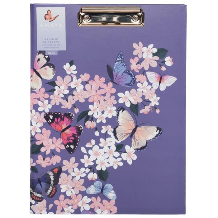 Butterflies A4 Board Folio Clipboard