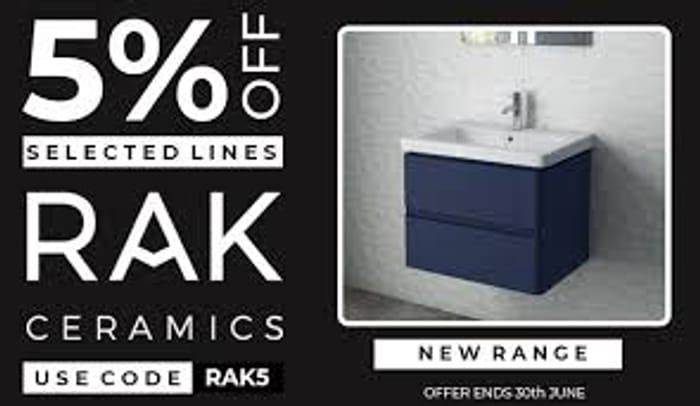 5% off Rak Ceramics - Selected Lines