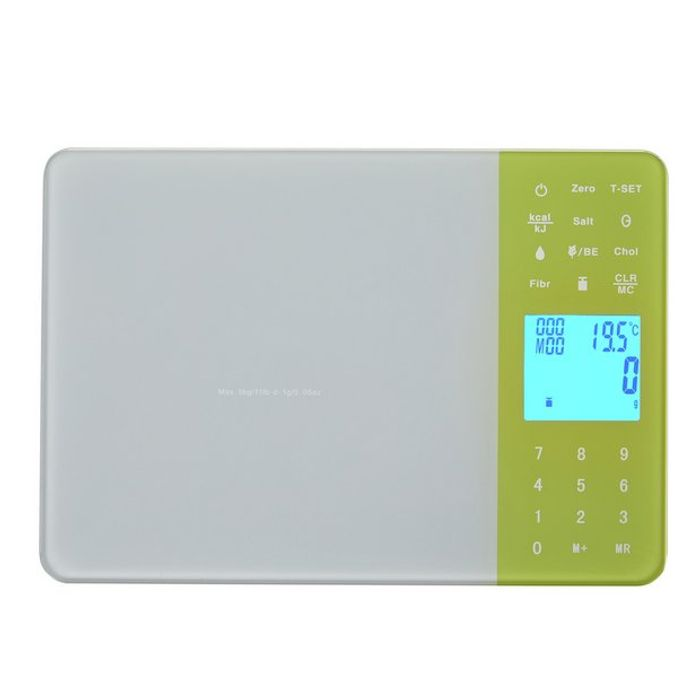 Argos Home Healthy Eating Kitchen Scale - Grey and Green