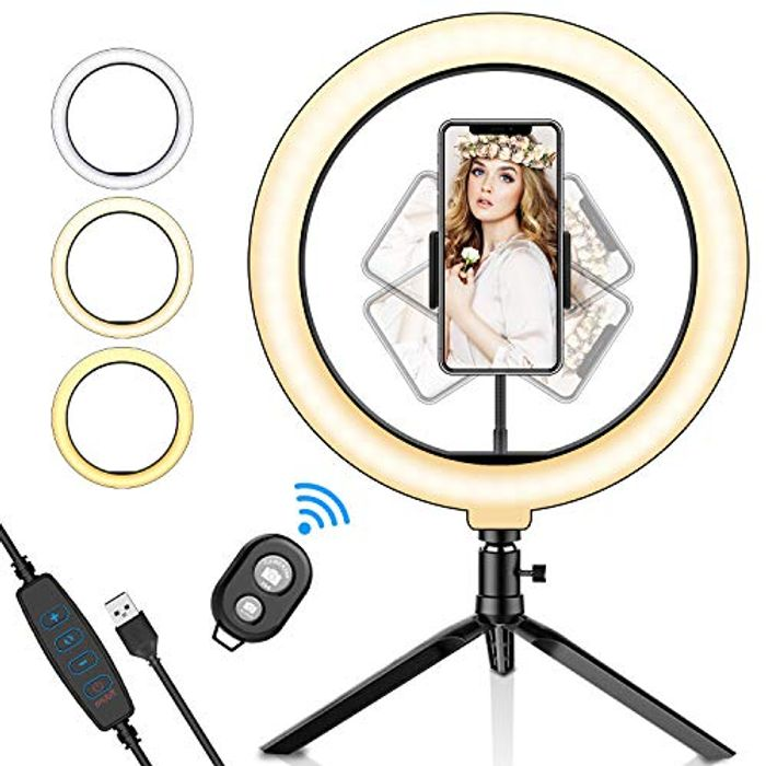"""Ring Light, 10.2""""with Tripod Stand Phone Holder"""