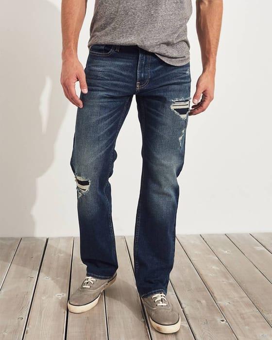 Hollister Epic Flex Classic Straight Jeans- MEN