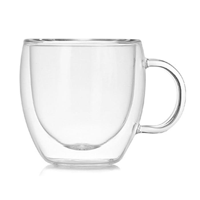 150ML Double Layers Coffee Mug - Only £1.26!