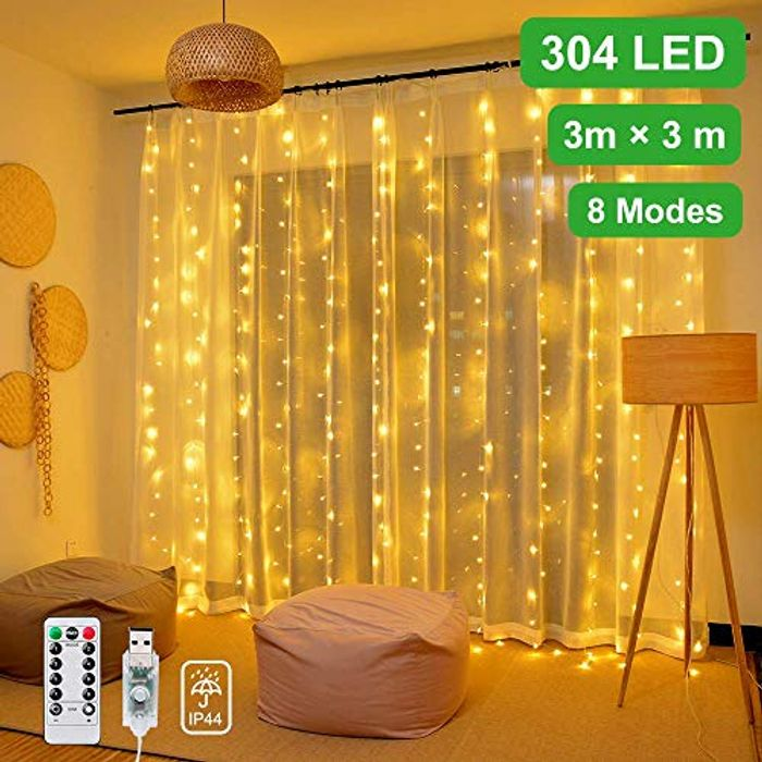 Save 50% - Curtain String Lights with 304 LEDs