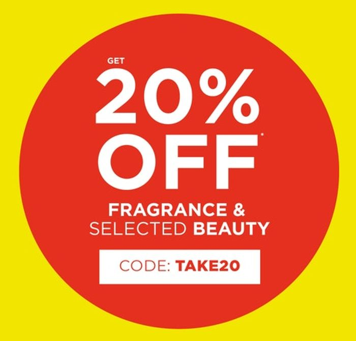 20% off Fragrance and Selected Beauty at The Fragrance Shop