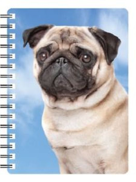 Pug 3D Notebook, Great Birthday Gift