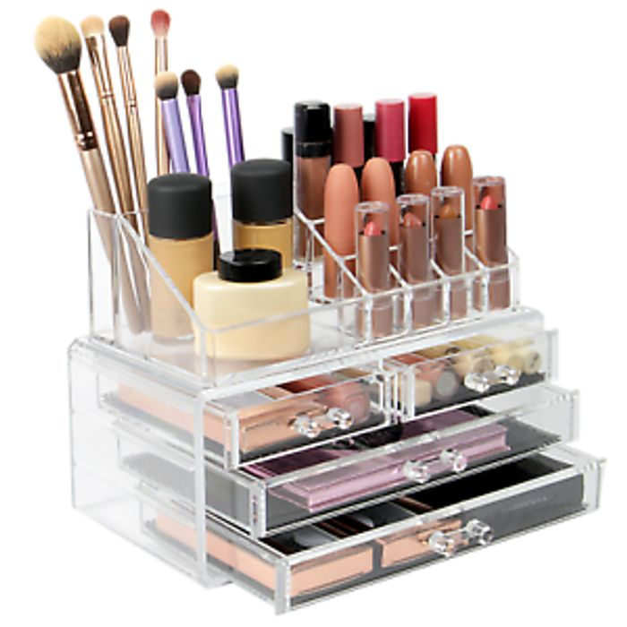 Cosmetic Makeup & Jewelry Organiser Clear Acrylic 20 Section Holder