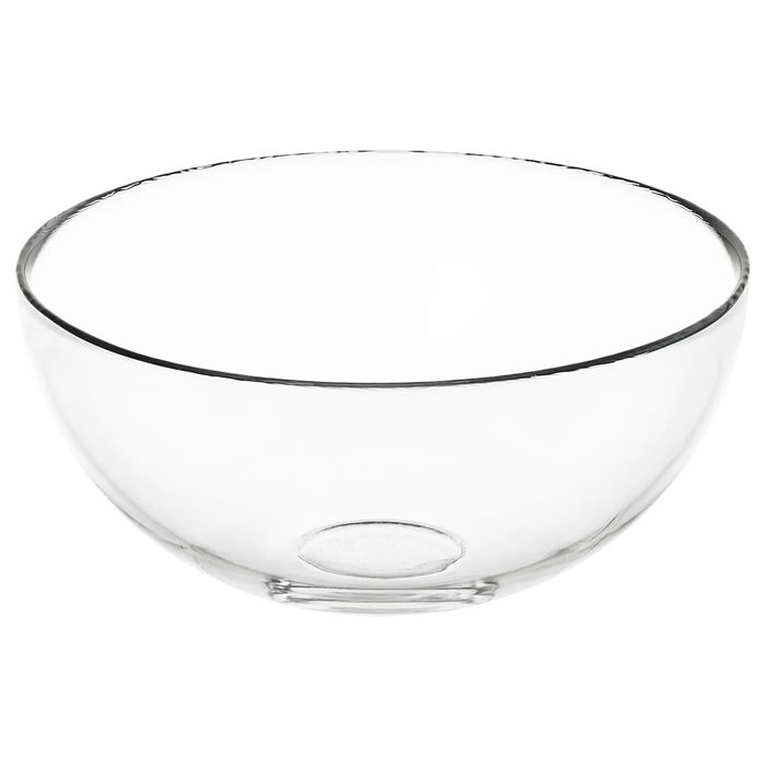 BLANDA - 20 Cm Serving Bowl - Clear Glass