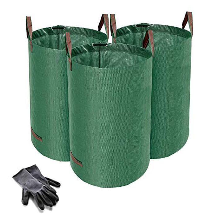 Norjews 120L Garden Waste Bags Pack of 3 (H76 Cm, D45 Cm)