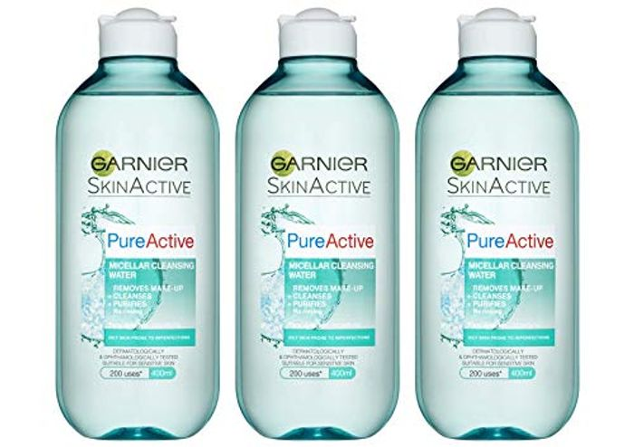Garnier Pure Active Micellar Facial Cleansing Water for Combination, Oily Skin