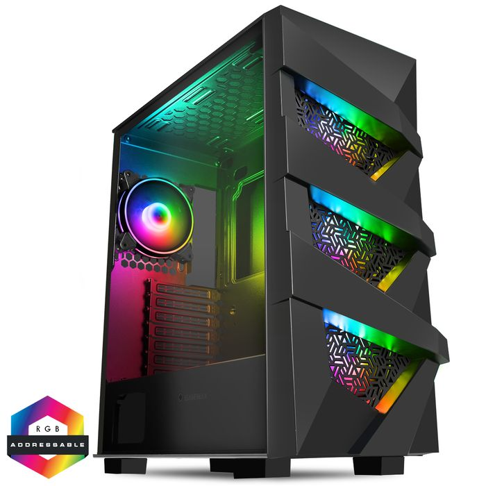 Best Price! GameMax Vengeance ARGB Tempered Glass Tower Gaming PC Case