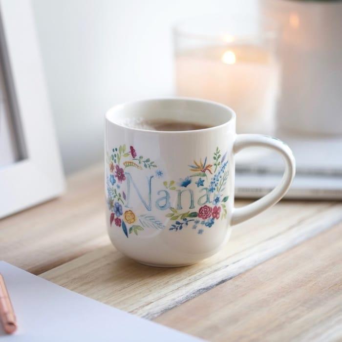 Vintage Floral 'Nana' Mug