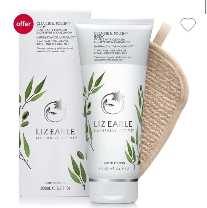 Liz Earle Cleanse & Polish Body Gentle Mitt Cleanser Eucalyptus and Cardamom