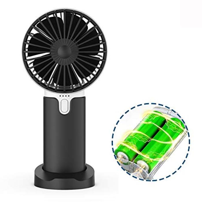 Lidasen Mini Handheld Portable Fan, USB Fan Rechargeable Battery 2400 mAh