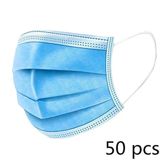 KETONG Non Woven Disposable Face Masks- 50 Pcs for £5.84 Only