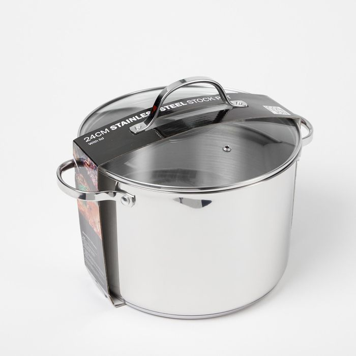 Debenhams - Stainless Steel 24cm Stockpot with Lid