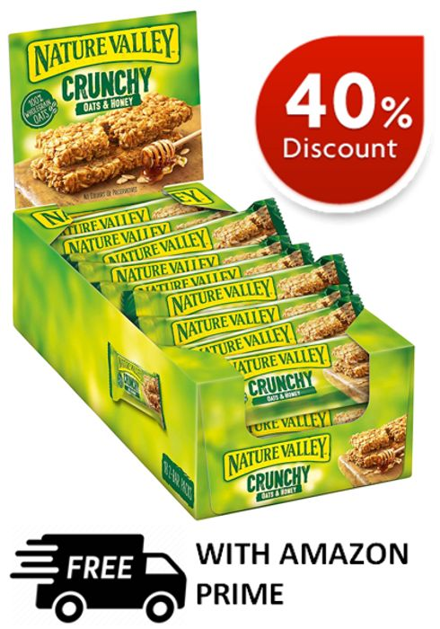 Nature Valley Crunchy Oats & Honey (18 Pack) FREE PRIME DELIVERY