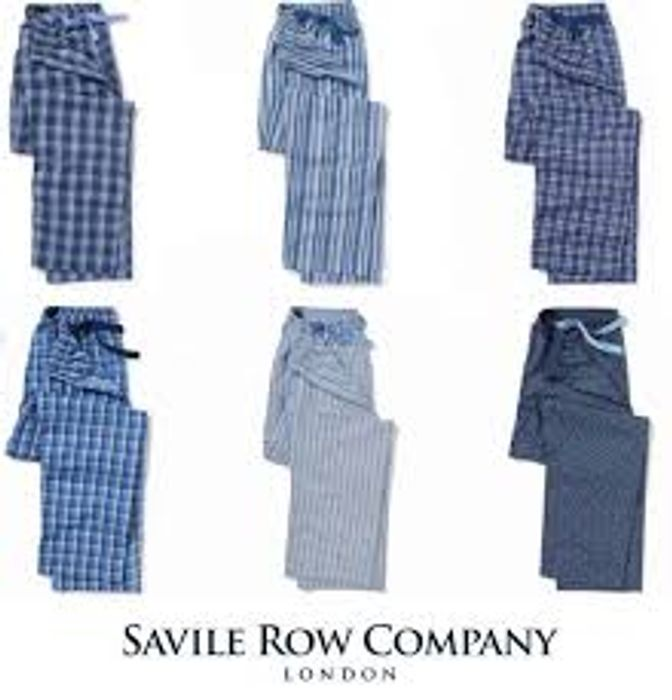 Saville Row Men's Lounge PJ Bottoms £12 / Lounge Shorts £10 Delivered with Code