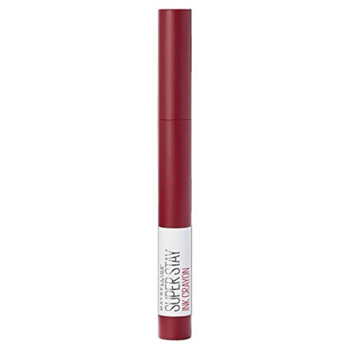 Maybelline Lipstick, Superstay Matte Ink Crayon Longlasting Dark Red Lipstick