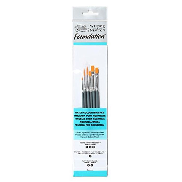 Back Again! Winsor & Newton Foundation Water Colour Short Handle 6 Pack Brush