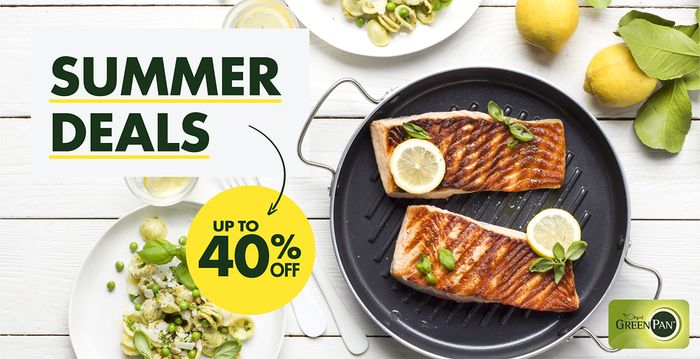 GreenPan - Summery Discounts of up to 40%!