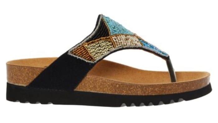SCHOLL Black Embellished Sandals