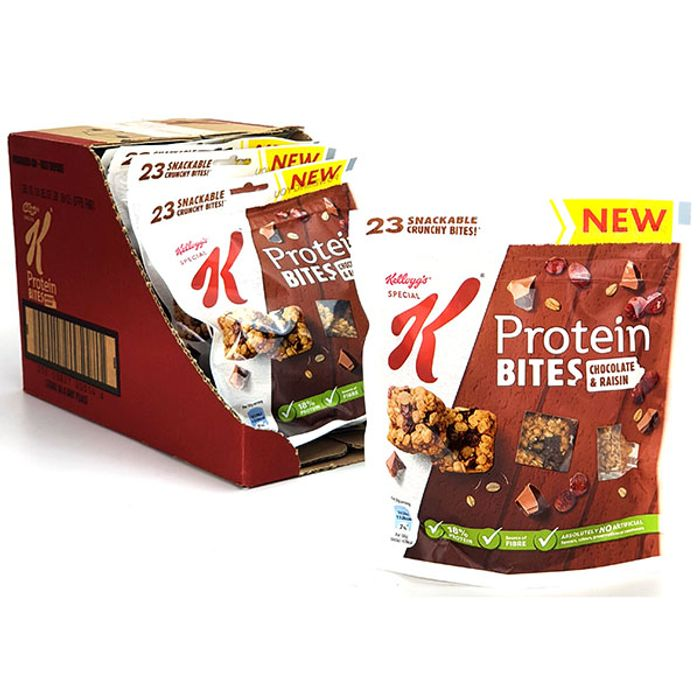 7 X Special K Protein Bites Chocolate & Raisin 120g Packs