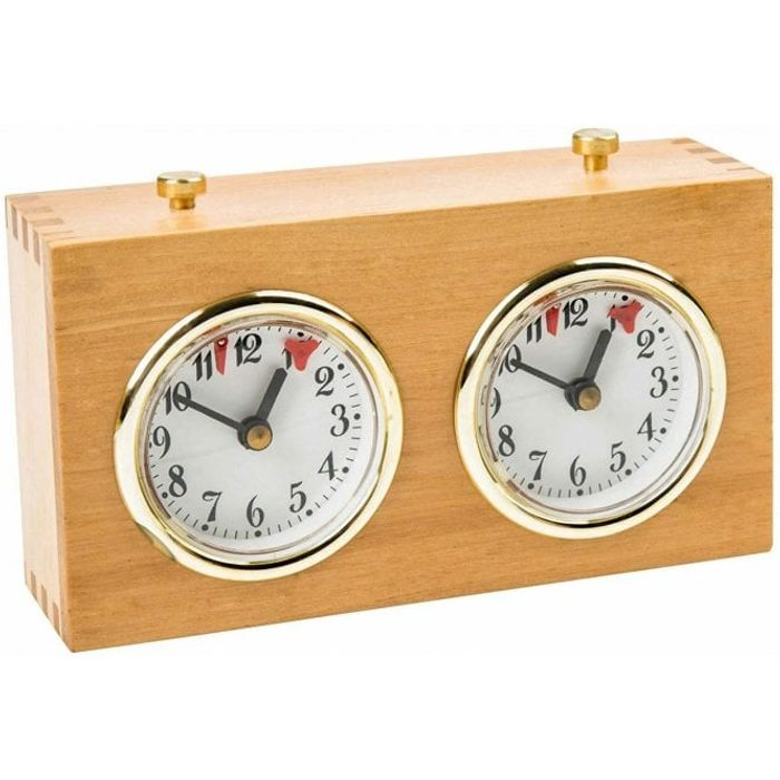 Analog Chess Clock (Wood)