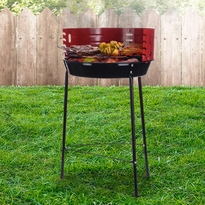 Cheap Red & Black Portable BBQ Grill Only £10 Delivered
