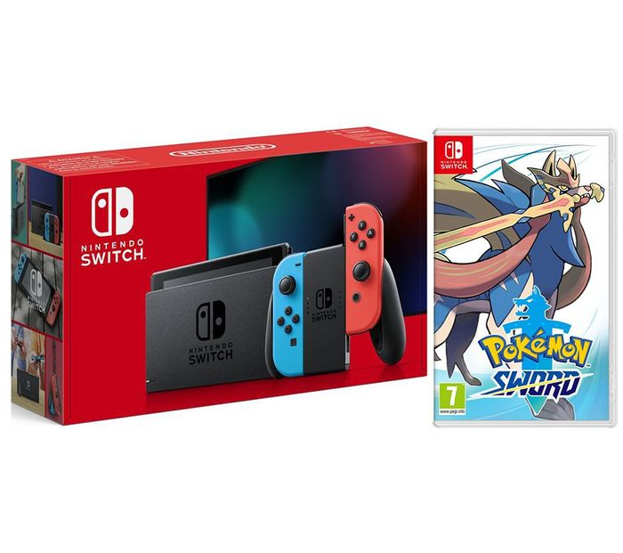 NINTENDO Switch Neon & Pokemon Sword Bundle