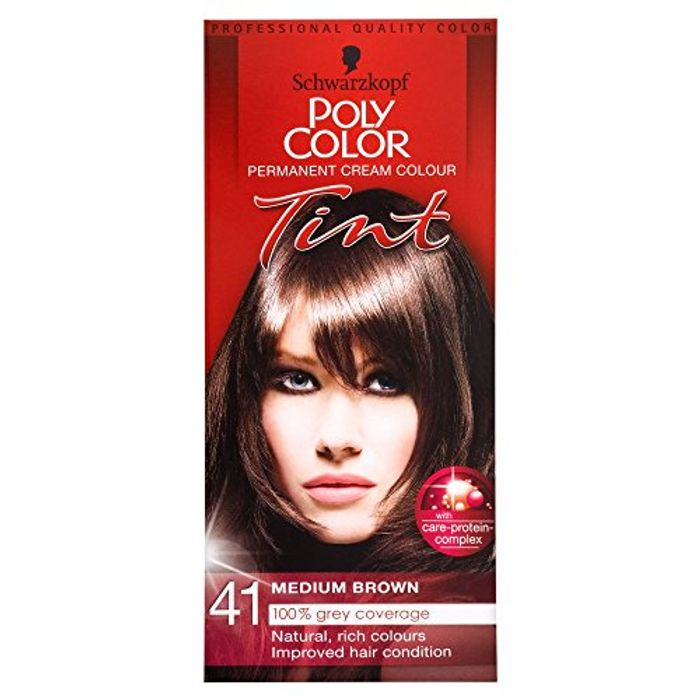 Schwarzkopf PolyColor Permanant Hair Cream Color Medium Brown Only £2