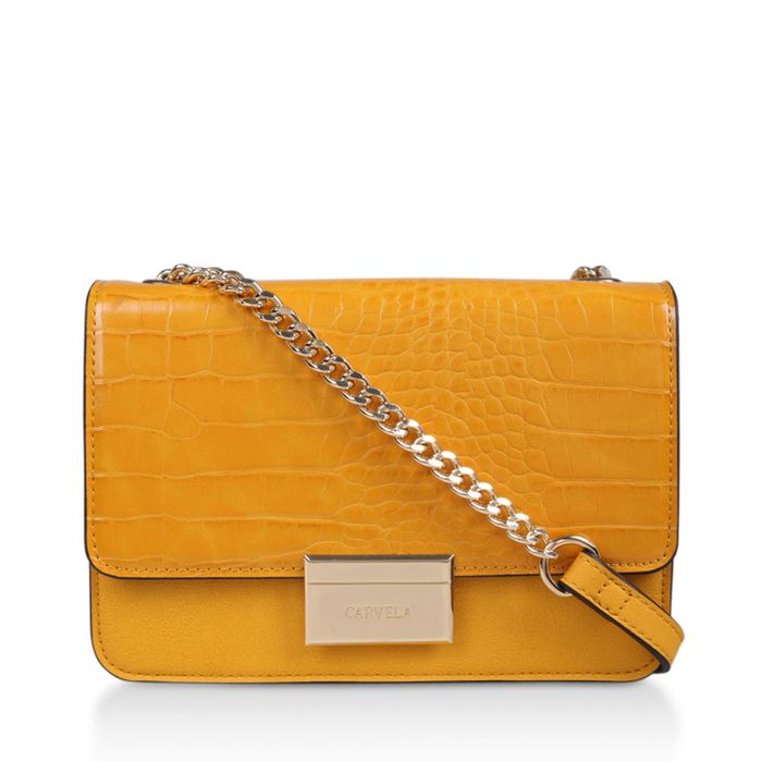 Carvela - Yellow 'Bee Midi Xbody' Cross Body Bag