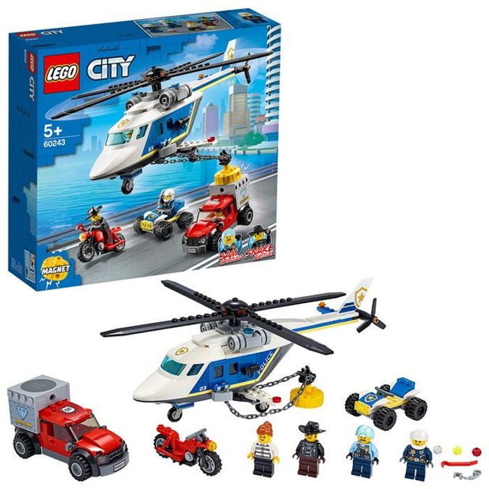 Cheap LEGO City Police Helicopter Chase Building Set - 60243 Only £16.66