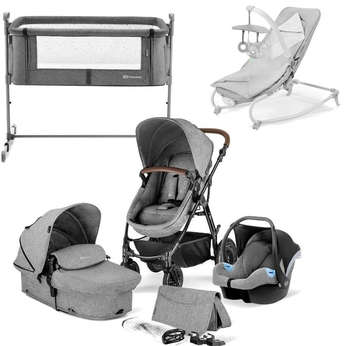 Kinderkraft Moov Felio Bundle (Grey) Baby Essentials