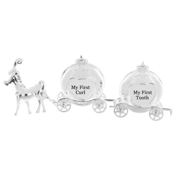 Silver Plated Curl & Tooth Princess Carriage