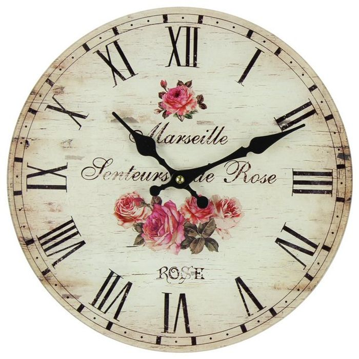 Floral Glass Wall Clock - Save 50%