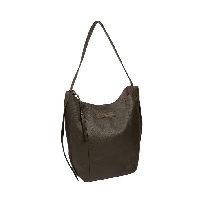 Pure Luxuries London - Hunter Green 'Hoxton' Leather Shoulder Bag