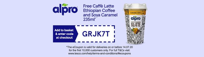 Special Offer - Free Alpro Coffee with discount code