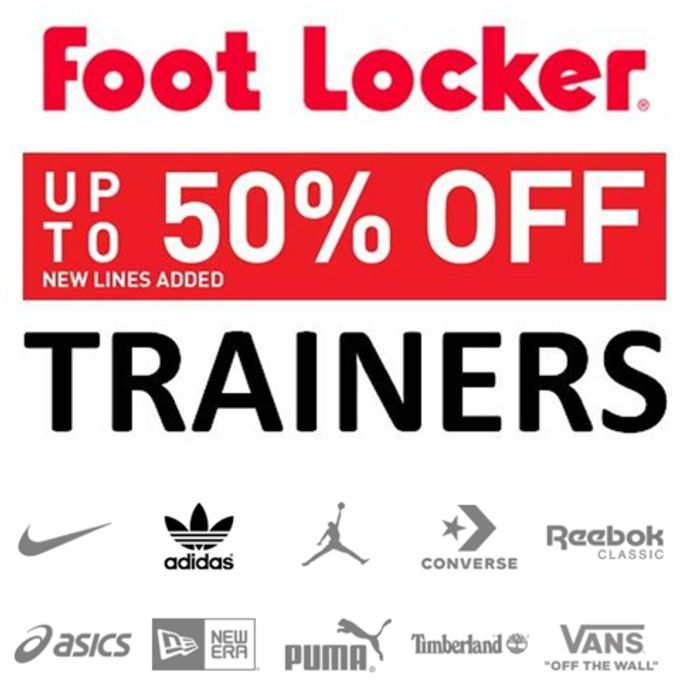 Special Offer - Trainers. Trainers. Trainers. Up to 50% OFF Nike & Adidas