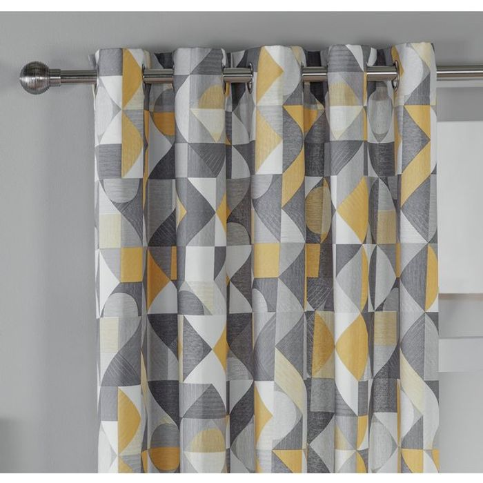 Argos Home Loft Living Geo Lined Eyelet Curtains