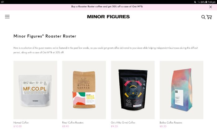 Special Offer - Buy a Roaster Roster Coffee and Get 30% off a Case of Oat Milk