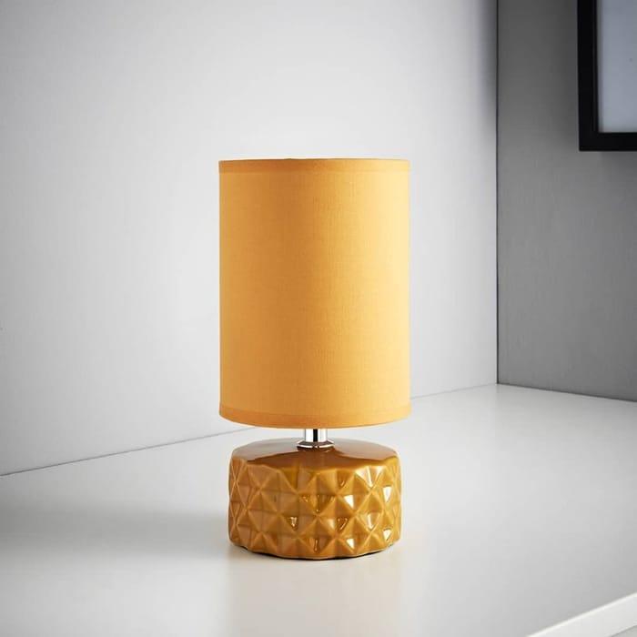 Geometric Ceramic Lamp - Ochre or Navy