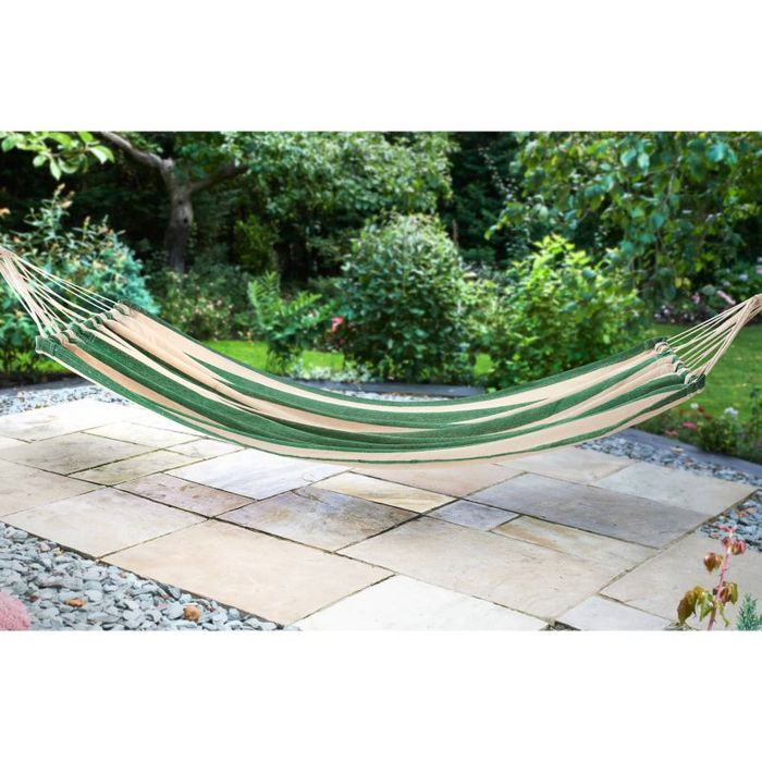 Cheap Hanging Fabric Hammock - Green Only £8!