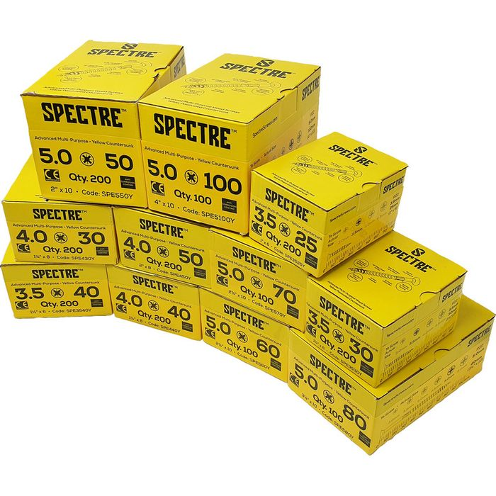 Spectre Screws Trade Pack Down From £44.36 to £28.83