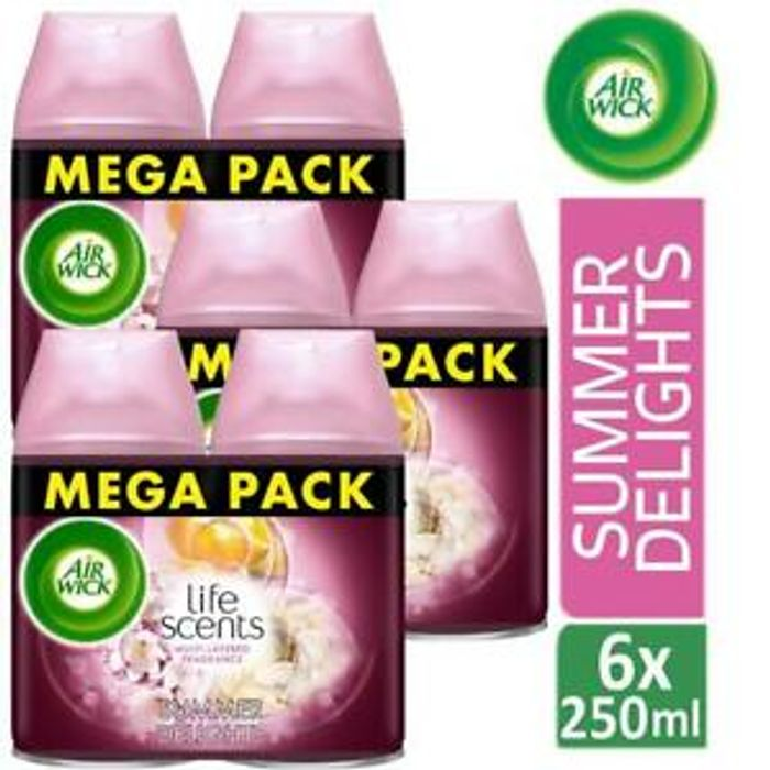 Air Wick Life Scents Freshmatic Air Fresheners Refill Summer Delights 250ml