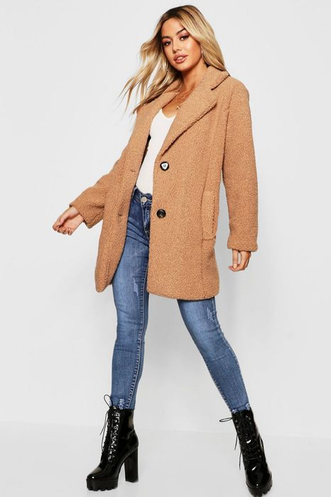 Petite Button Through Teddy Coat, Only £22.00!