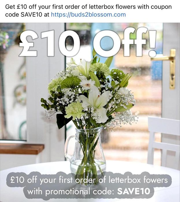 Get £10 off Your First Order When You Spend £30